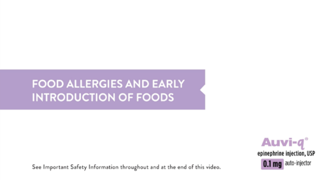 Food allergies and early introduction of foods